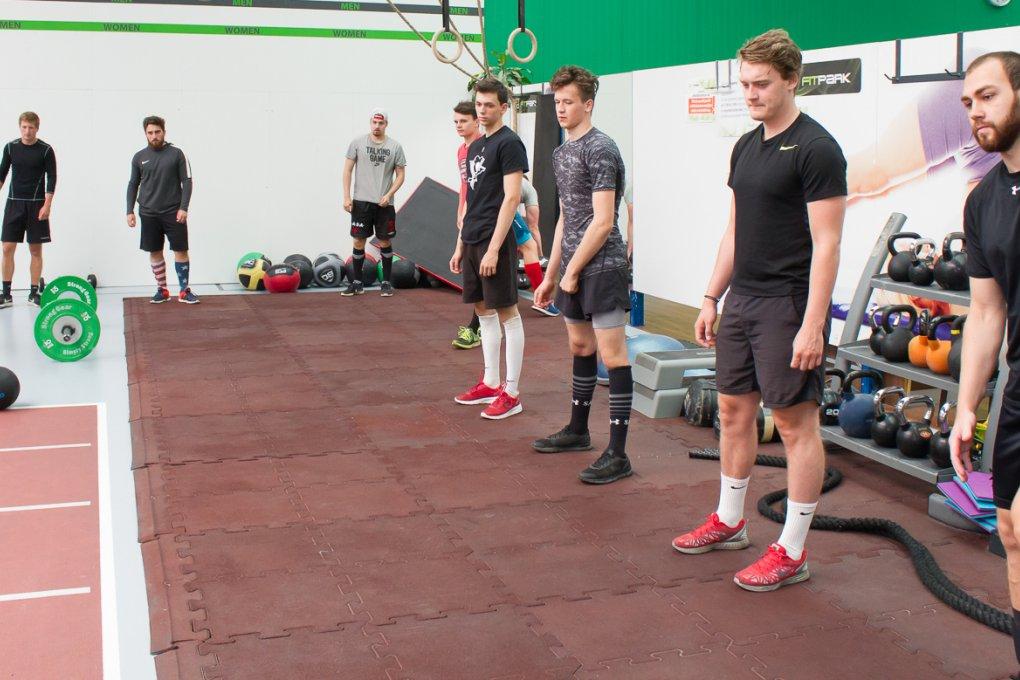 FOTOGALERIE: Trénink A-týmu ve fitness centru FIT PARK