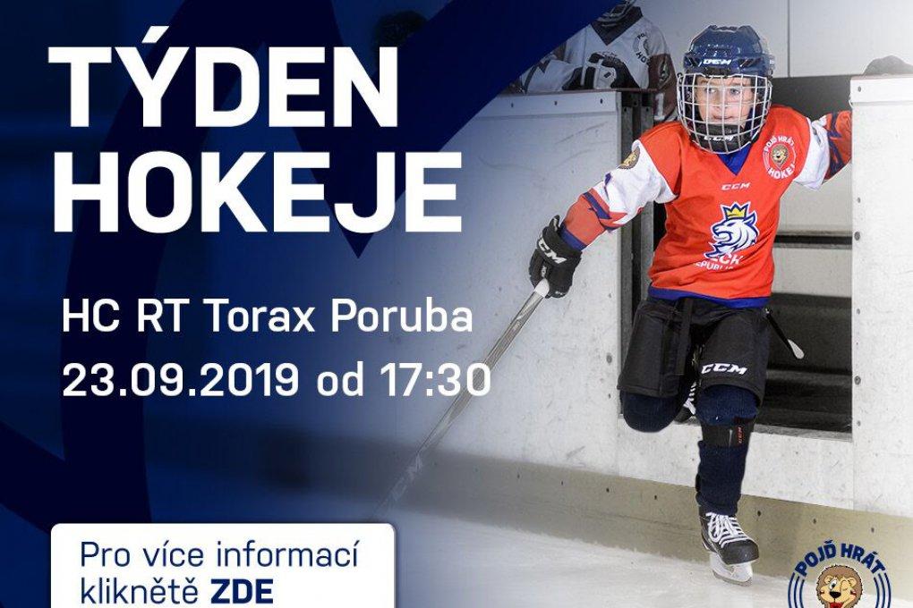 Přijďte v pondělí 23. září do RT TORAX ARENY na akci Týden hokeje