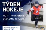 Přijďte v pondělí 21. ledna do RT TORAX ARENY na akci Týden hokeje