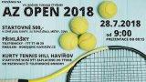 Tenisový AZ OPEN 2018 opět na konci července