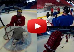 VIDEO: Vžijte se do role hokejisty. Tomáš Valenta trénoval s GoPro kamerou!