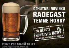 Přijďte se pobavit s hráči a ochutnejte Radegast Temně Hořký!