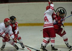 Tři štastné góly Litvínova ve druhé třetině rozhodly o prohře olomouckých juniorů