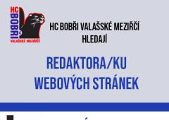 HC Bobøi Valašské meziøíèí hledají nové redaktory klubového webu
