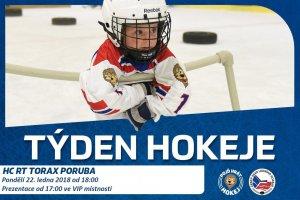 Přijďte v pondělí 22. ledna do RT TORAX ARENY na akci Týden hokeje