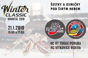 Žákovské Winter Classic! Ostravské derby šestek a osmiček pod širou oblohou v Bruntále