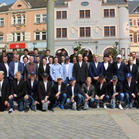 Dorostence přijalo vedení města Přerova, poděkovalo jim za vzornou reprezentaci