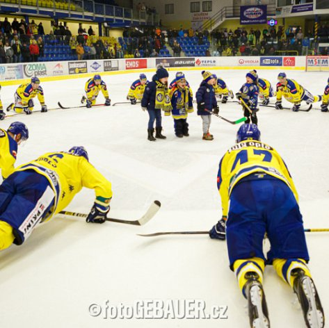 Reklama na hokej! Zubři ve strhujícím zápase složili vedoucí České Budějovice