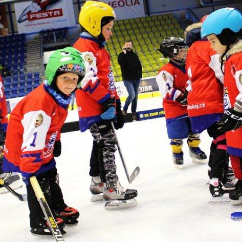 Zubři se znovu zapojili do Týdne hokeje, na ledě dováděli s více než třiceti dětmi
