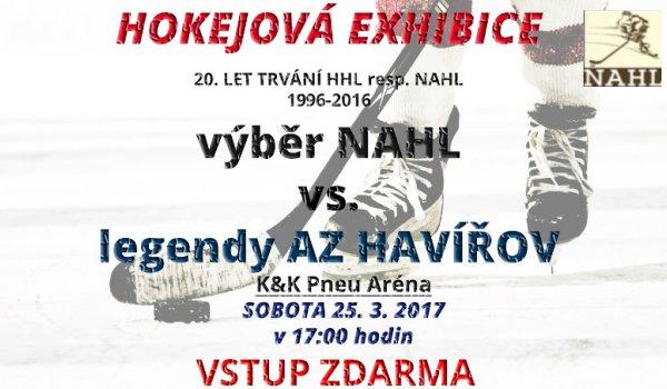 K&K PNEU Aréna uvidí hokejovou exhibici - výběr NAHL vyzve legendy AZetu