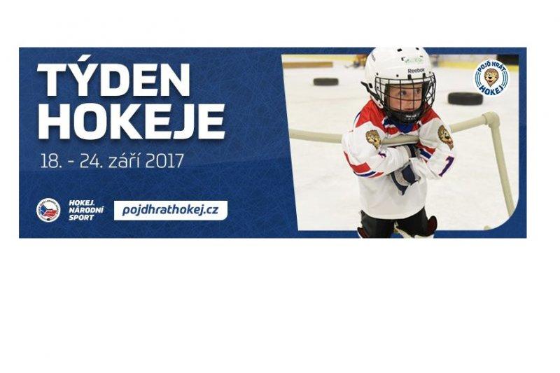Přijďte v úterý 19.9.2017 v 17:00 na zimní stadion Na Lapači na akci Týden hokeje