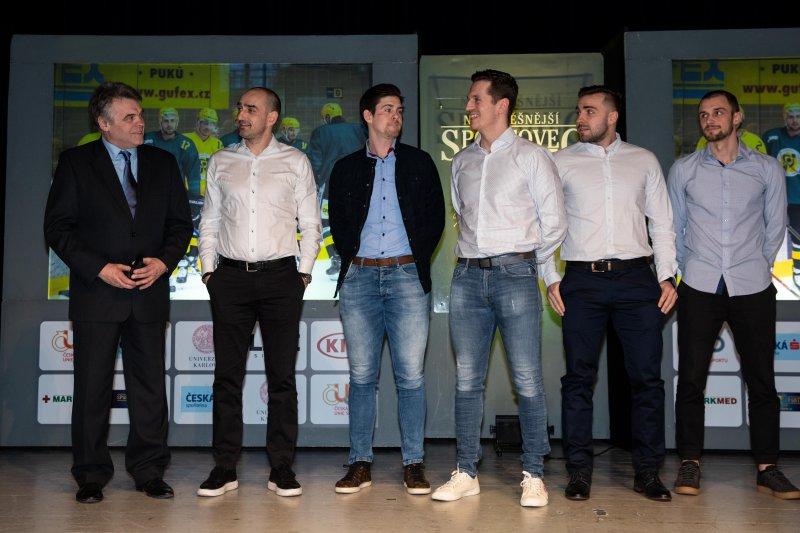 OBRAZEM: Vsetínští hokejisté převzali ocenění za nejúspěšnější sportovní kolektiv