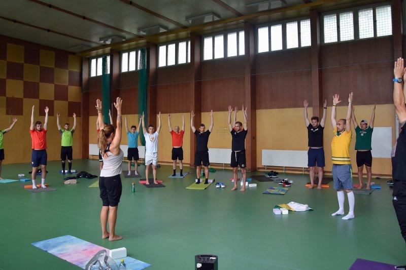 OBRAZEM: A-tým si zacvičil s Kateřinou Čajánkovou