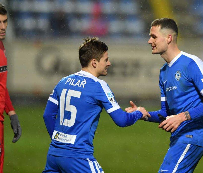Václav Pilař nach seiner Premiere für Slovan: