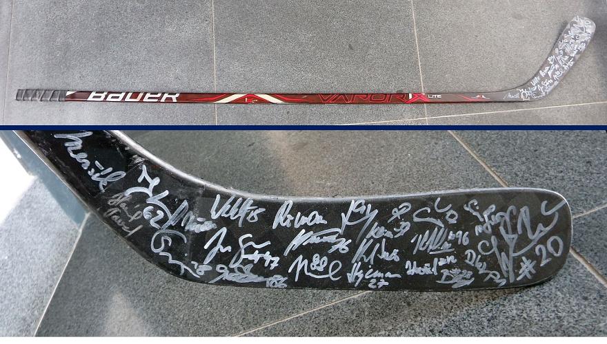 Pomáhejte s námi a vydražte si hokejku Tomáše Sýkory s podpisy A-týmu Zubrů