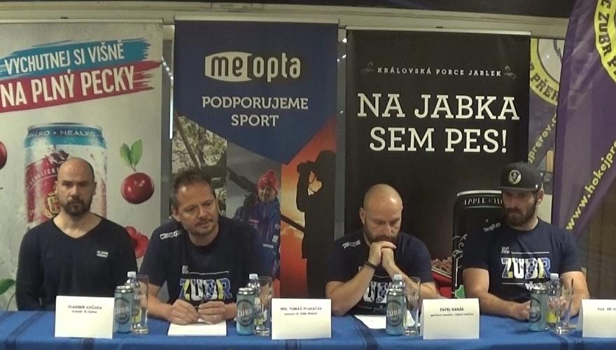 VIDEO: Záznam tiskové konference Zubrů před startem Chance ligy 2019/20