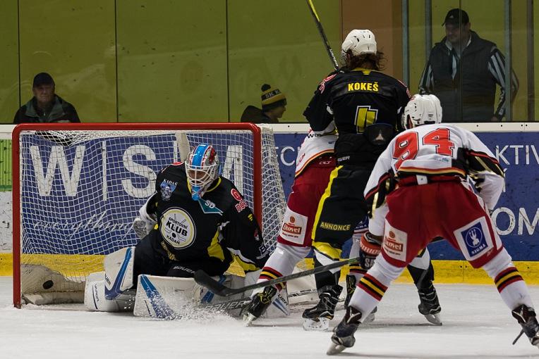 Výhru v Kadani 3:2 po prodloužení vystřelil svým 22 gólem v sezoně Tomáš Divíšek