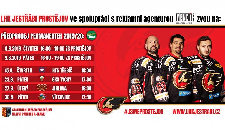 Předprodej permanentních vstupenek na novou sezonu startuje ve čtvrtek 8.8 a v pátek 9.8 vždy od 16:00.
