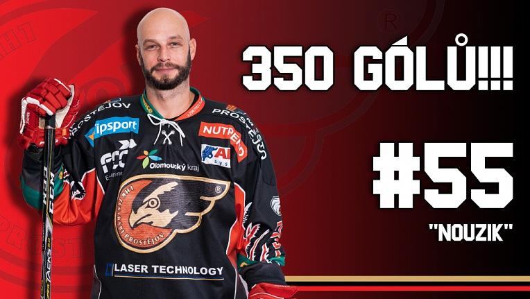Tomáš Nouza vstřelil 350 branku v první hokejové lize