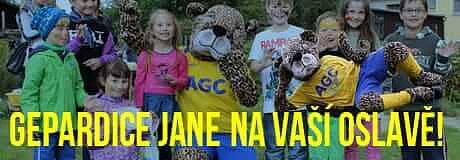 Gepardice Jane na Vašich oslavách