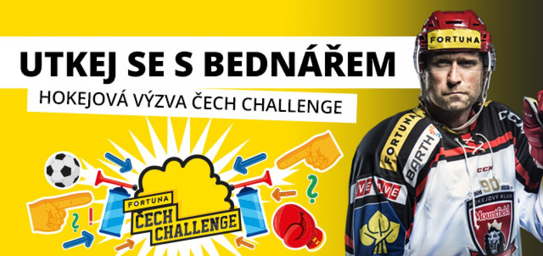 0ebe330caae92 Hokejová výzva Čech Challenge: Utkej se s Bednářem!   Mountfield HK