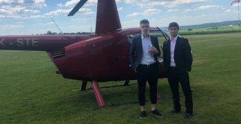 VIDEO: Vrtulníkem na utkání s Duklou!