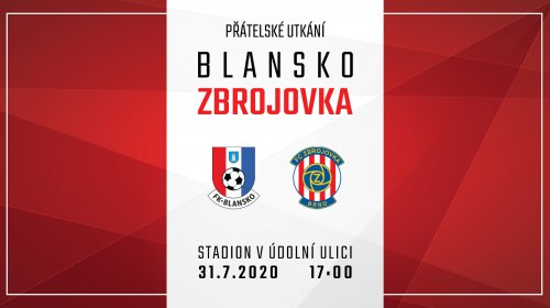 Prvním letním soupeřem bude Blansko, zápas můžete sledovat na Zbrojovka TV