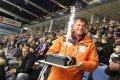 Zdeněk dostal ke 40. narozeninám dort od kolegů z práce, kteří mu objednali oslavu v aréně