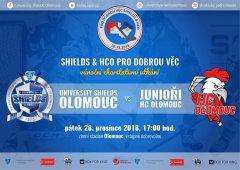 Junioři HC Olomouc a University Shields Olomouc spojili síly! Pořádají charitativní zápas