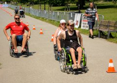Kohouti rozdávali úsměvy na vozíčkářské štafetě i na Moravia Sport Expo
