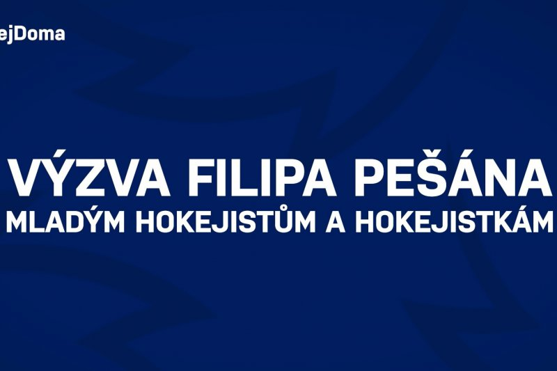 VIDEO: Filip Pešán vyzývá mladé hokejisty a hokejistky k pohybu a dodržování vládních nařízení