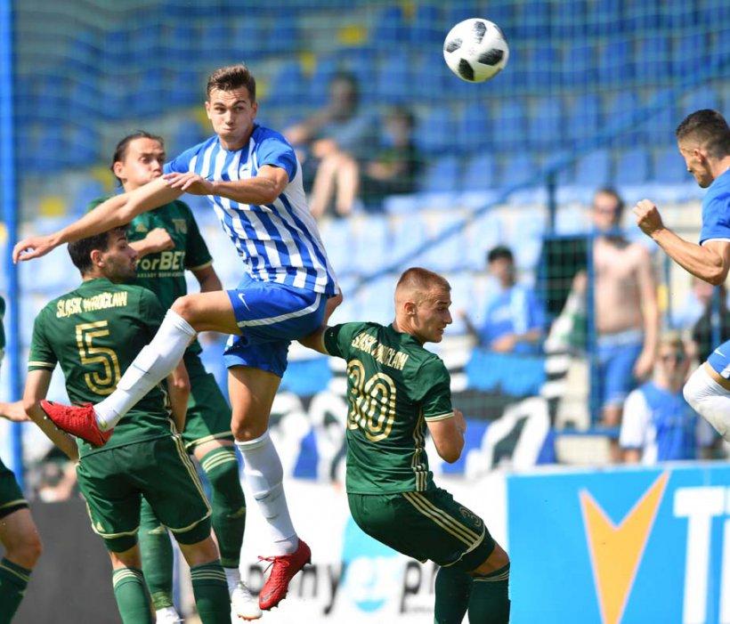 Nach frühem Rückstand noch ein Unentschieden erwarbeitet - 1:1 gegen  Śląsk Wrocław