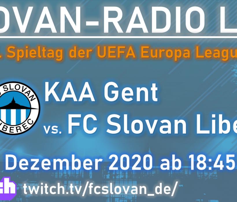 Slovan-Radio LIVE bei Gent erstmals via Twitch.tv