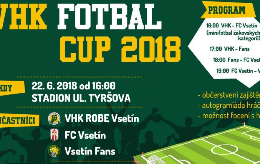Už tento pátek proběhne VHK FOTBAL CUP 2018