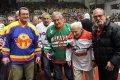 Hokejové legendy pohromadě. Zleva Jaroslav Korbela, Jaroslav Pouzar, Josef Pártl a Václav Lenc.