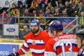 Současné hvězdy českobudějovického hokeje - kapitán Zdeněk Kutlák a Václav Nedorost.