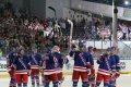 Děkovačka New York Rangers na konci zápasu