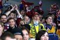 Mezi fanoušky v kotli přišel povzbudit své spoluhráče Tomáš Duba