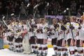 Sparťané oslavují vítězství nad Plzní