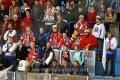 Zhruba stovka fanoušků hostí měla velkou zásluhu na pravé hokejové atmosféře.