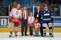 Vyhlášení nejlepších hráčů utkání. Domácí Marek Zukal a hostující  Daniel Špaček.