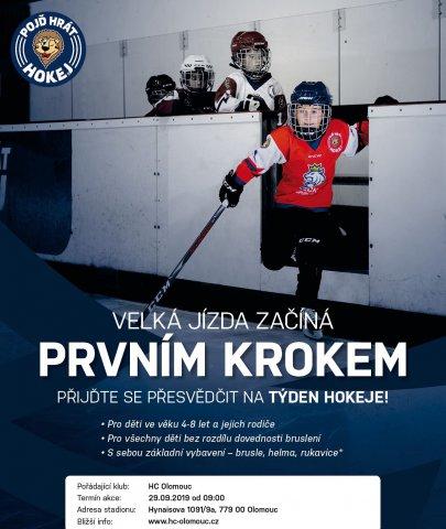 Přijďte 29. září v 9 hodin na Zimní stadion Olomouc na akci Týden hokeje