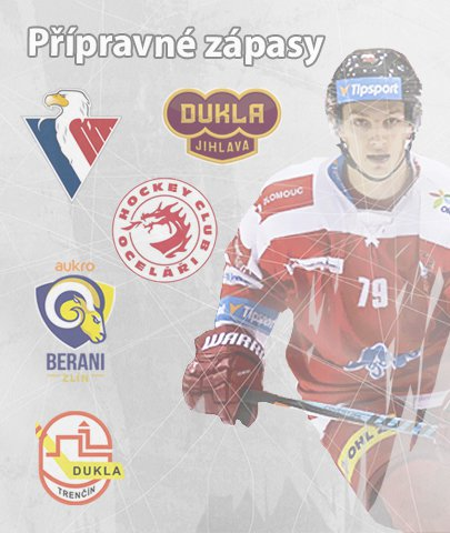 Derby se Zlínem i účastník KHL! Olomoucký A-tým zná rozpis přípravných zápasů
