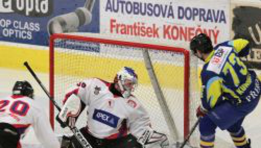Zubři bez potíží vyhráli na ledě Uherského Hradiště