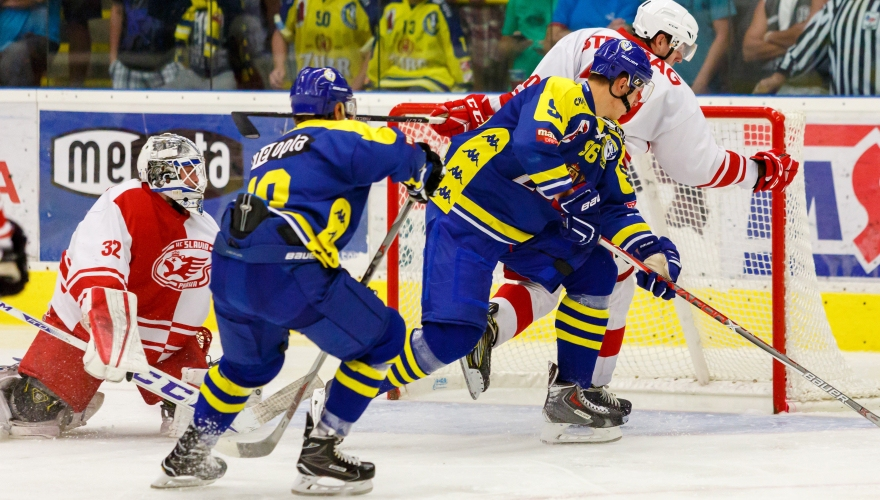 Zubři v hlavním městě bodový lup nevybojovali, se Slavií prohráli o dva góly