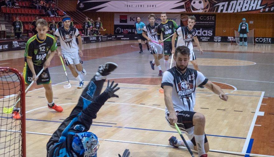 Florbalisté Chomutova vyráží podruhé za sebou ven, čeká je zápas v Petrovicích